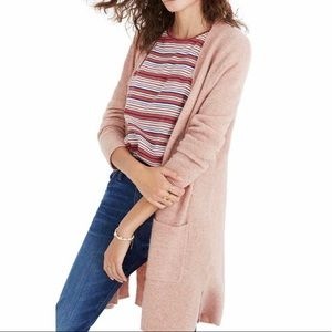 Madewell Kent Merino Wool Alpaca Cardigan XL Pink